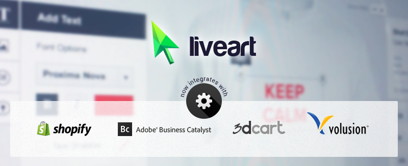 LiveArt integrations with different platforms